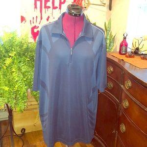 Greg Norman Play Dry men's blue polo shirt NWOT